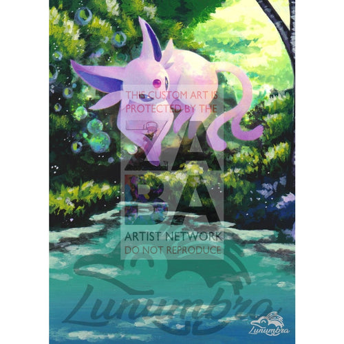 Espeon 89/214 Sun & Moon Lost Thunder Extended Art Custom Pokemon Card Textless Silver Holographic