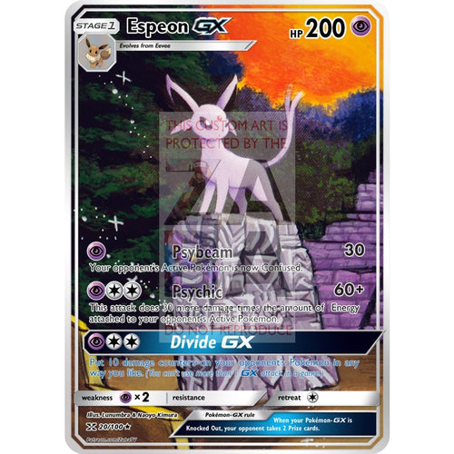 Espeon Gx Extended Art Custom Pokemon Card