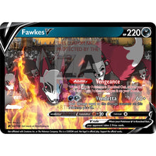 Fawkes V Custom Pokemon Card Art 2 Silver Foil