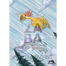 Fearow 36/64 Jungle Set Extended Art Custom Pokemon Card Textless Silver Holographic