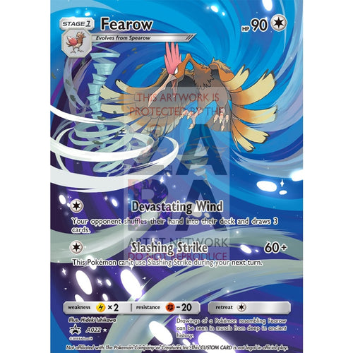 Fearow 98/149 Sun & Moon Extended Art Custom Pokemon Card