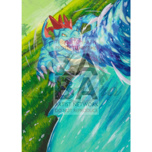 Feraligatr 20/73 Shining Legends Extended Art Custom Pokemon Card Textless Silver Holographic