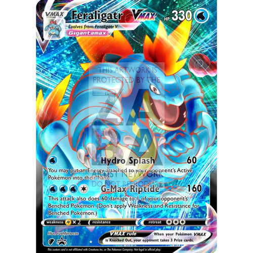Feraligatr Vmax (Dynamax) Custom Pokemon Card Regular / Silver Foil