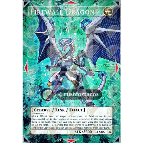 Firewall Dragon Full Art Orica - Custom Yu-Gi-Oh! Card Silver Holographic