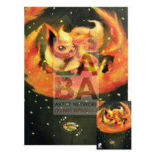 Flareon 13/98 Ancient Origins Extended Art Custom Pokemon Card 7 X 10 Silver Foil Poster +