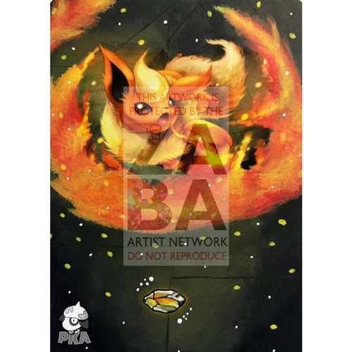 Flareon 13/98 Ancient Origins Extended Art Custom Pokemon Card Silver Holographic