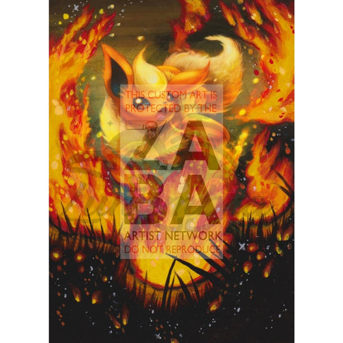 Flareon 13/98 Xy Ancient Origins Extended Art Custom Pokemon Card Textless Silver Holographic