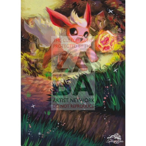 Flareon 44/95 Call Of Legends Extended Art Custom Pokemon Card Textless Silver Holographic