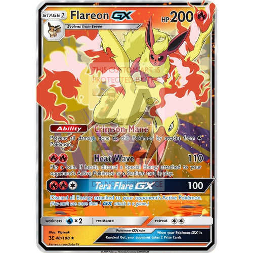 Flareon Gx (Version 2) Custom Pokemon Card