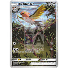 Fletchinder Guardians Rising 110/145 Extended Art Custom Pokemon Card Non-Holographic