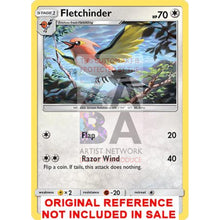 Fletchinder Guardians Rising 110/145 Extended Art Custom Pokemon Card