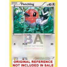 Fletchling 94/114 Steam Siege Extended Art Custom Pokemon Card