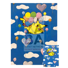 Flying Pikachu 110/108 Xy Evolutions Extended Art Custom Pokemon Card 7 X 10 Silver Foil Poster +