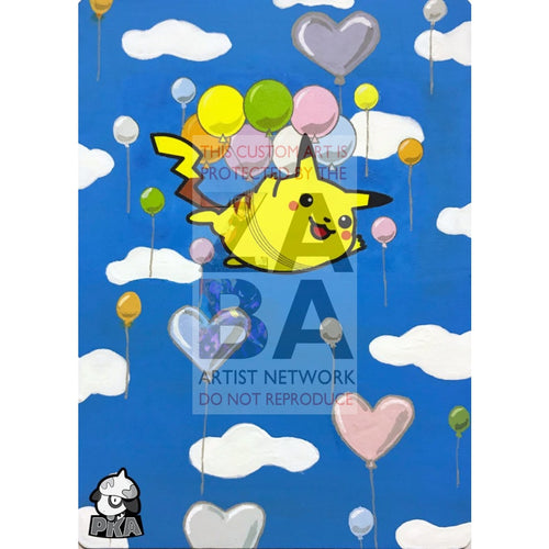 Flying Pikachu 110/108 Xy Evolutions Extended Art Custom Pokemon Card Silver Holographic