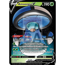 Amoongus V Custom Pokemon Card Blue / Silver Foil