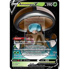 Amoongus V Custom Pokemon Card Brown / Silver Foil