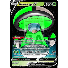 Amoongus V Custom Pokemon Card Lime / Silver Foil