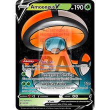 Amoongus V Custom Pokemon Card Orange / Silver Foil