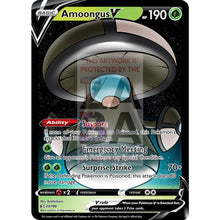 Amoongus V Custom Pokemon Card Tan / Silver Foil