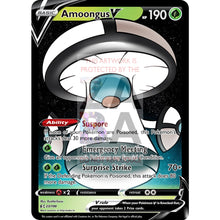 Amoongus V Custom Pokemon Card White / Silver Foil