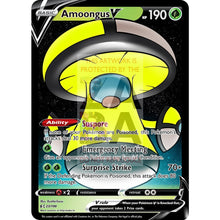 Amoongus V Custom Pokemon Card Yellow / Silver Foil