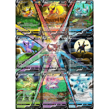 Full Eeveelution V (All 9) Custom Pokemon Card Set Silver Foil