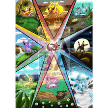 Full Eeveelution V (All 9) Custom Pokemon Card Set Textless Silver Foil