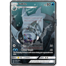 Gabite (Water) Custom Pokemon Card Silver Holographic