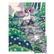 Galarian Ponyta 81/202 Sword & Shield Extended Art Custom Pokemon Card 7 X 10 Silver Foil Poster +
