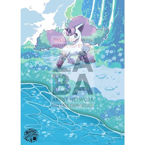 Galarian Ponyta 81/202 Sword & Shield Extended Art Custom Pokemon Card Silver Foil / Standard