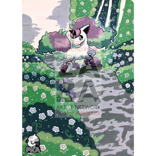 Galarian Ponyta 81/202 Sword & Shield Extended Art Custom Pokemon Card Silver Holographic