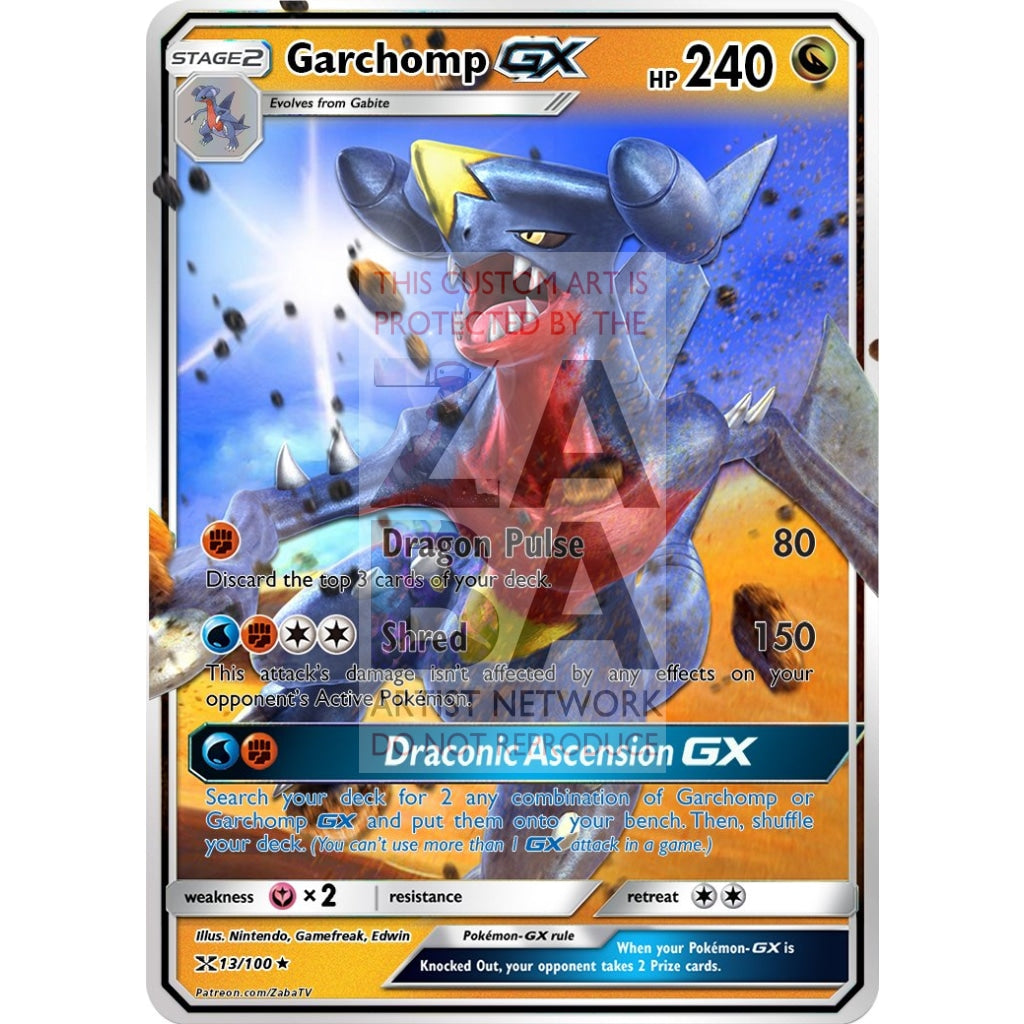 Garchomp Gx Custom Pokemon Card