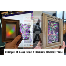 Garchomp V Stained-Glass Custom Pokemon Card Standard / On Actual Glass + Frame With Rainbow Foil