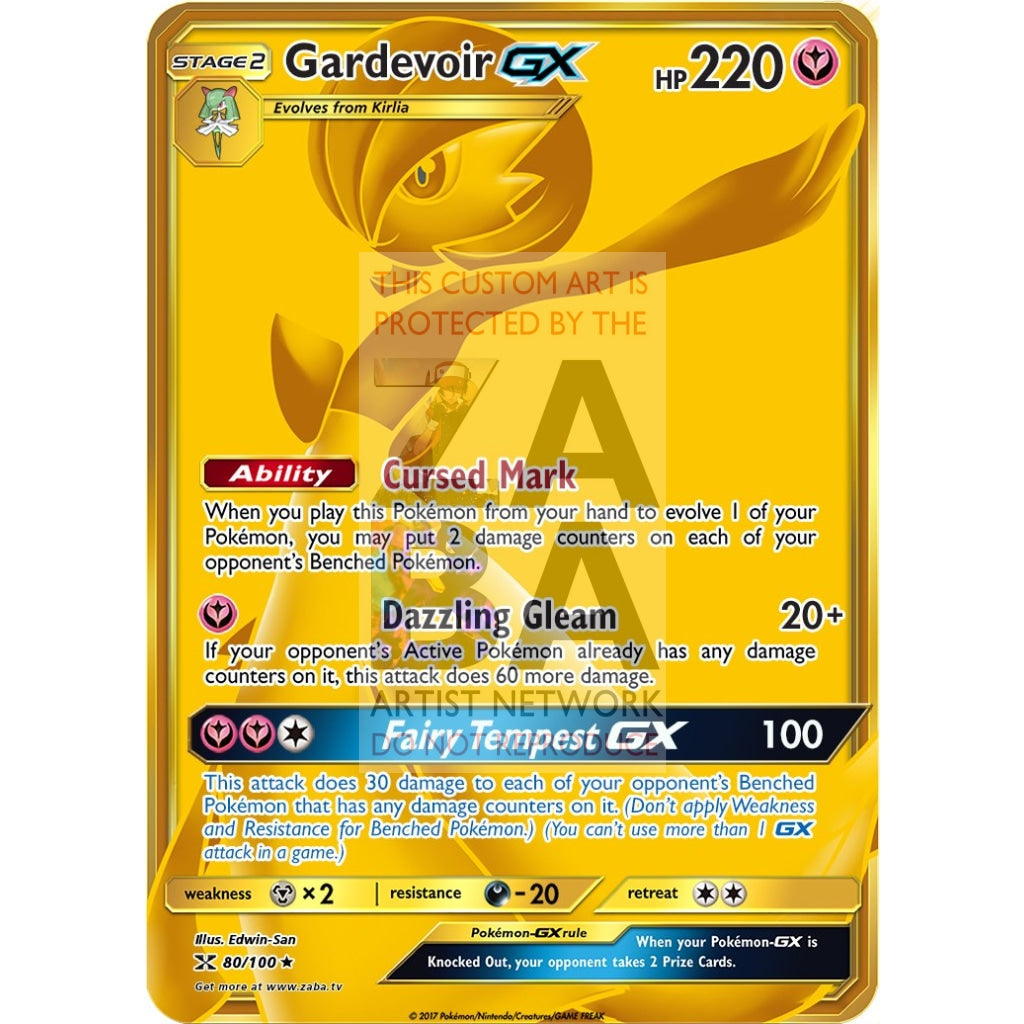 Gardevoir Gx Gold Secret Rare Custom Pokemon Card