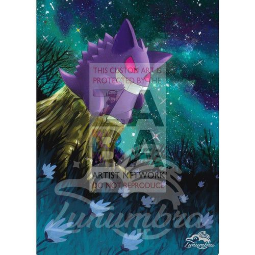 Gengar 27/130 Diamond & Pearl Extended Art Custom Pokemon Card Textless Silver Holographic