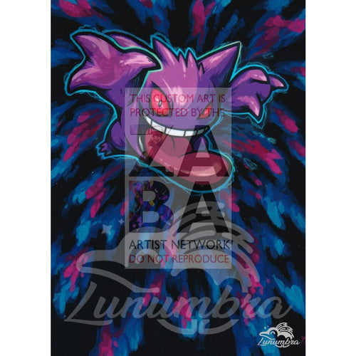 Gengar 35/83 Xy Generations Extended Art Custom Pokemon Card Textless Silver Holographic