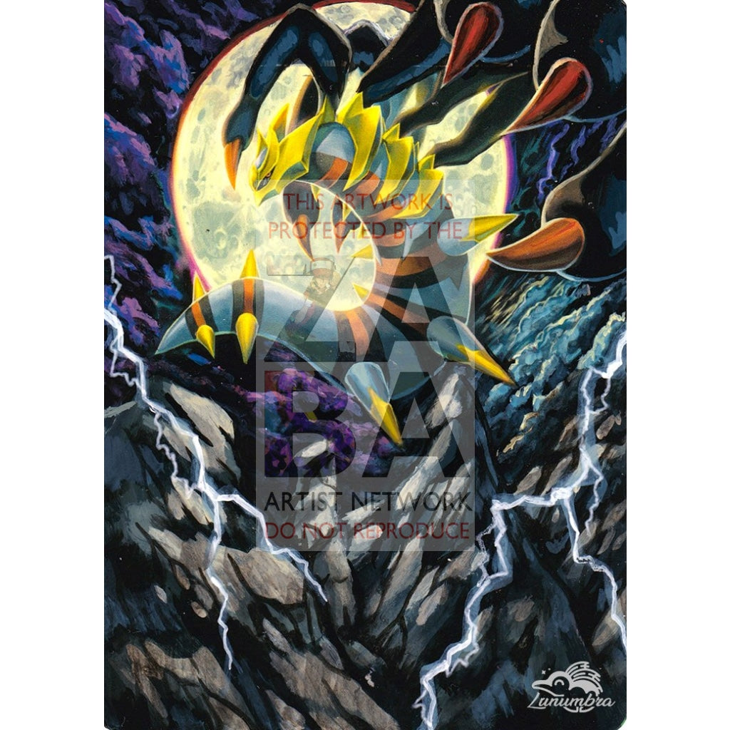 Giratina 10/127 Platinum Extended Art Custom Pokemon Card Textless Silver Holographic