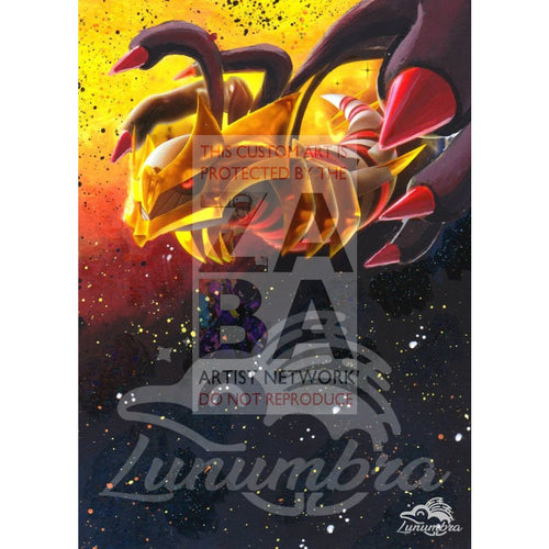 Giratina Xy184 Promo Extended Art Custom Pokemon Card Textless Silver Holographic