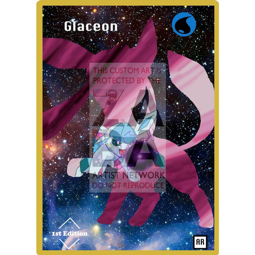 Glaceon Anime Silhouette (Drewzcustomcards) - Custom Pokemon Card