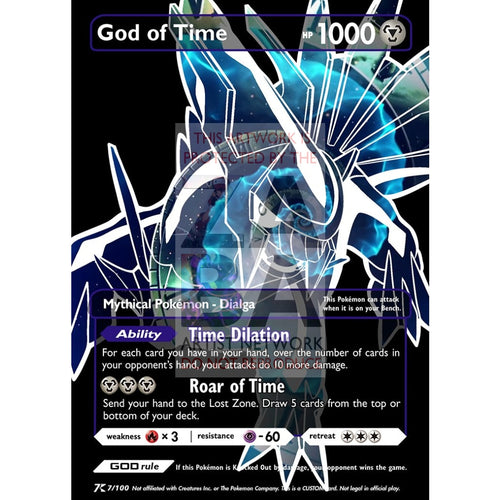 God Of Time - Dialga Luxury Selective Holographic Custom Pokemon Card