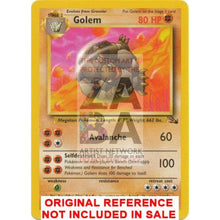 Golem 36/62 Fossil Extended Art Custom Pokemon Card