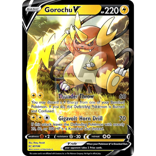 Gorochu V Custom Pokemon Card Silver Foil