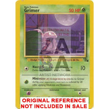 Grimer 48/62 Fossil Extended Art Custom Pokemon Card