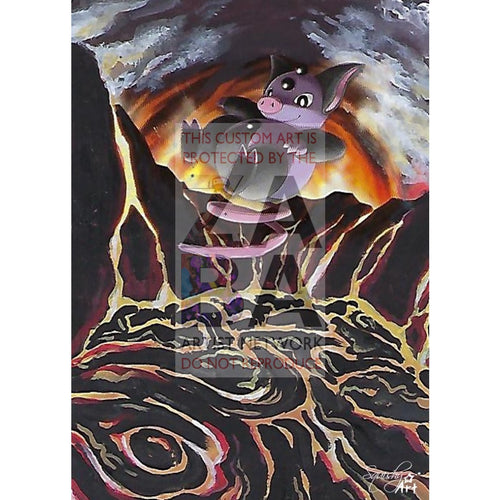 Grumpig 60/149 Boundaries Crossed Extended Art Custom Pokemon Card Textless Silver Holographic