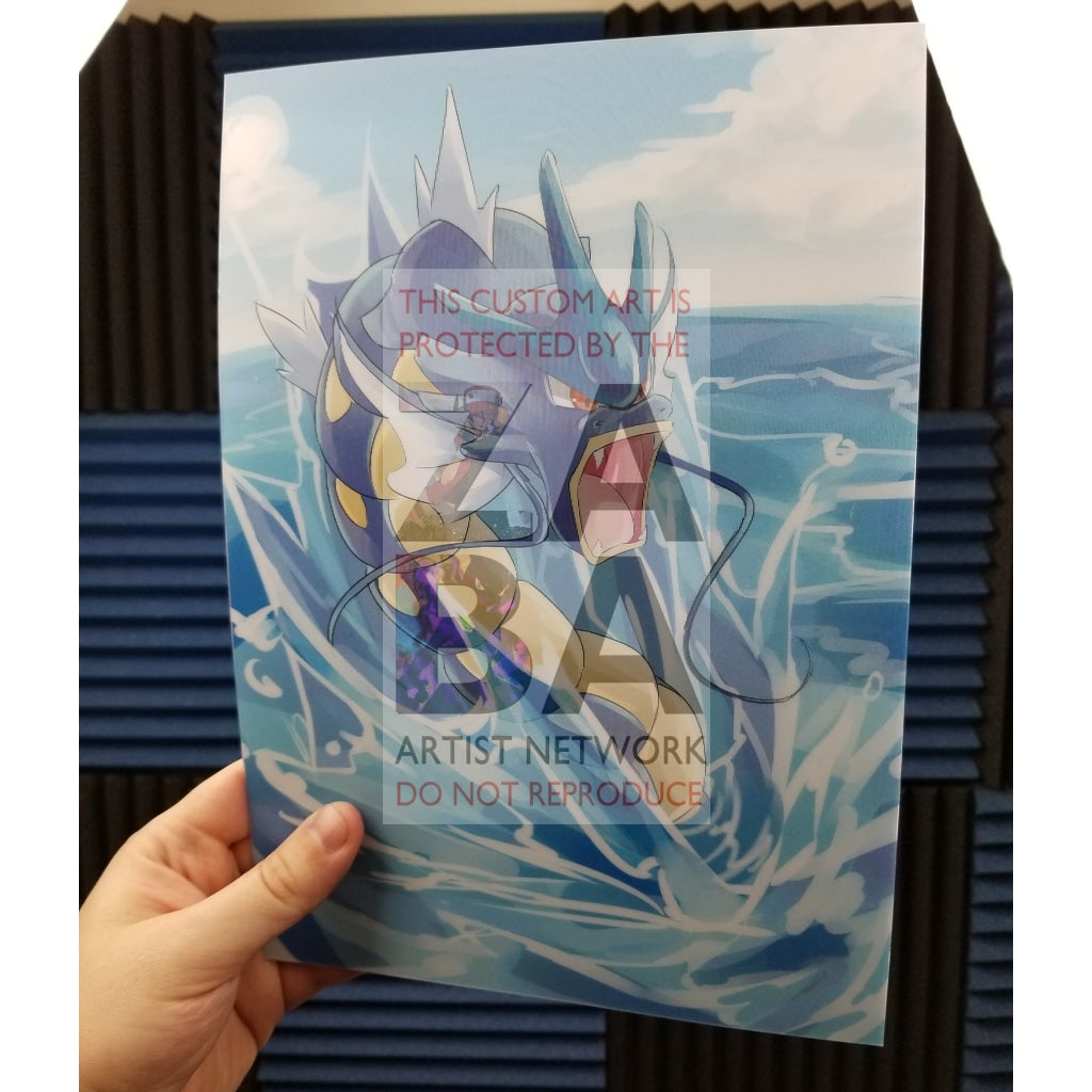 Gyarados & Shining Lenticular Poster Custom Pokemon Card