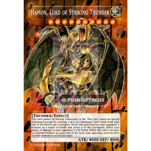 Hamon Lord Of Striking Thunder Full Art Orica- Custom Yu-Gi-Oh! Card