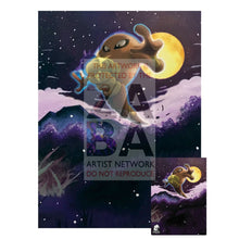 Hitmonlee 58/95 Call Of Legends Extended Art Custom Pokemon Card 7 X 10 Silver Foil Poster +