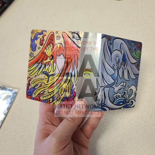 Ho-Oh & Lugia Traditional Japanese Inspired Custom Mini Binder Pokemon Packs