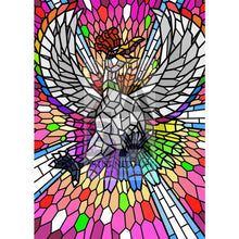 Ho-Oh V (Stained-Glass) Custom Pokemon Card Shining Rainbow / Textless Silver Foil
