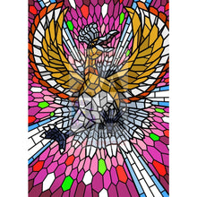 Ho-Oh V (Stained-Glass) Custom Pokemon Card Shining / Textless Silver Foil
